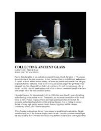 Collecting Ancient Glass